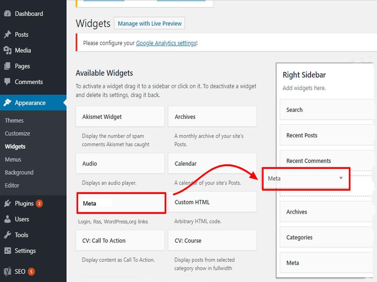 Add-the-WordPress-Login-URL-to-Widgets