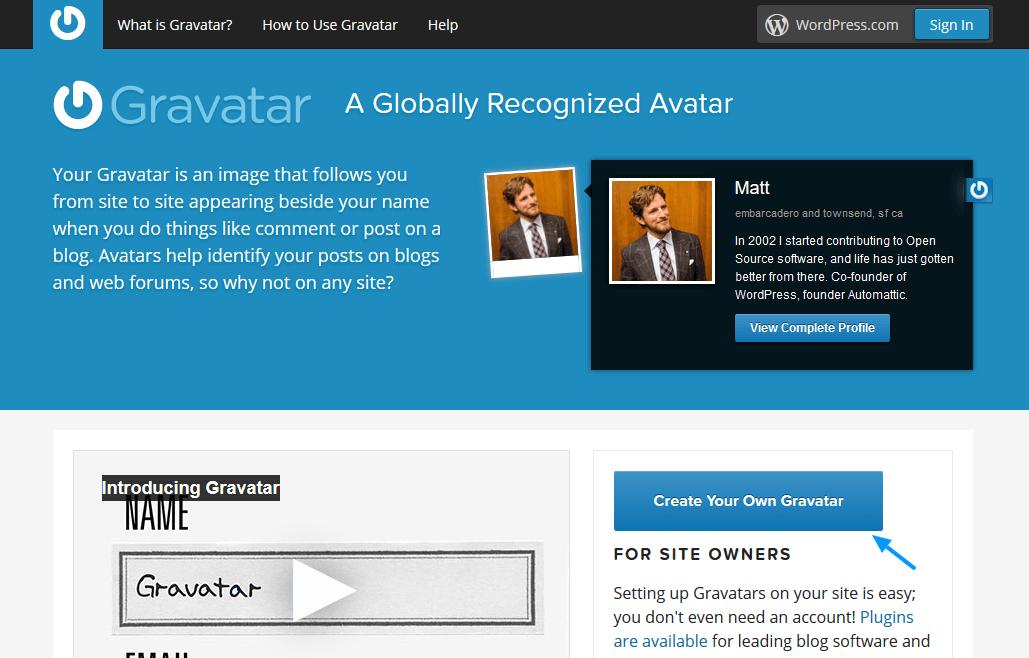 set-the-gravatar-on-WordPress
