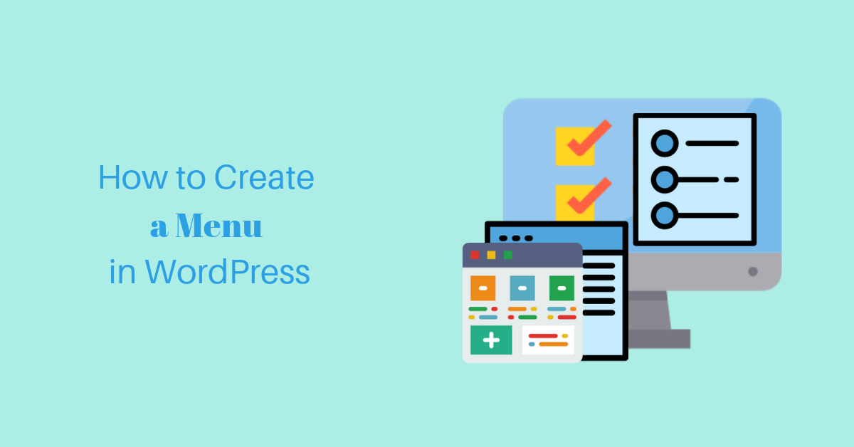 How to create a menu in WordPress