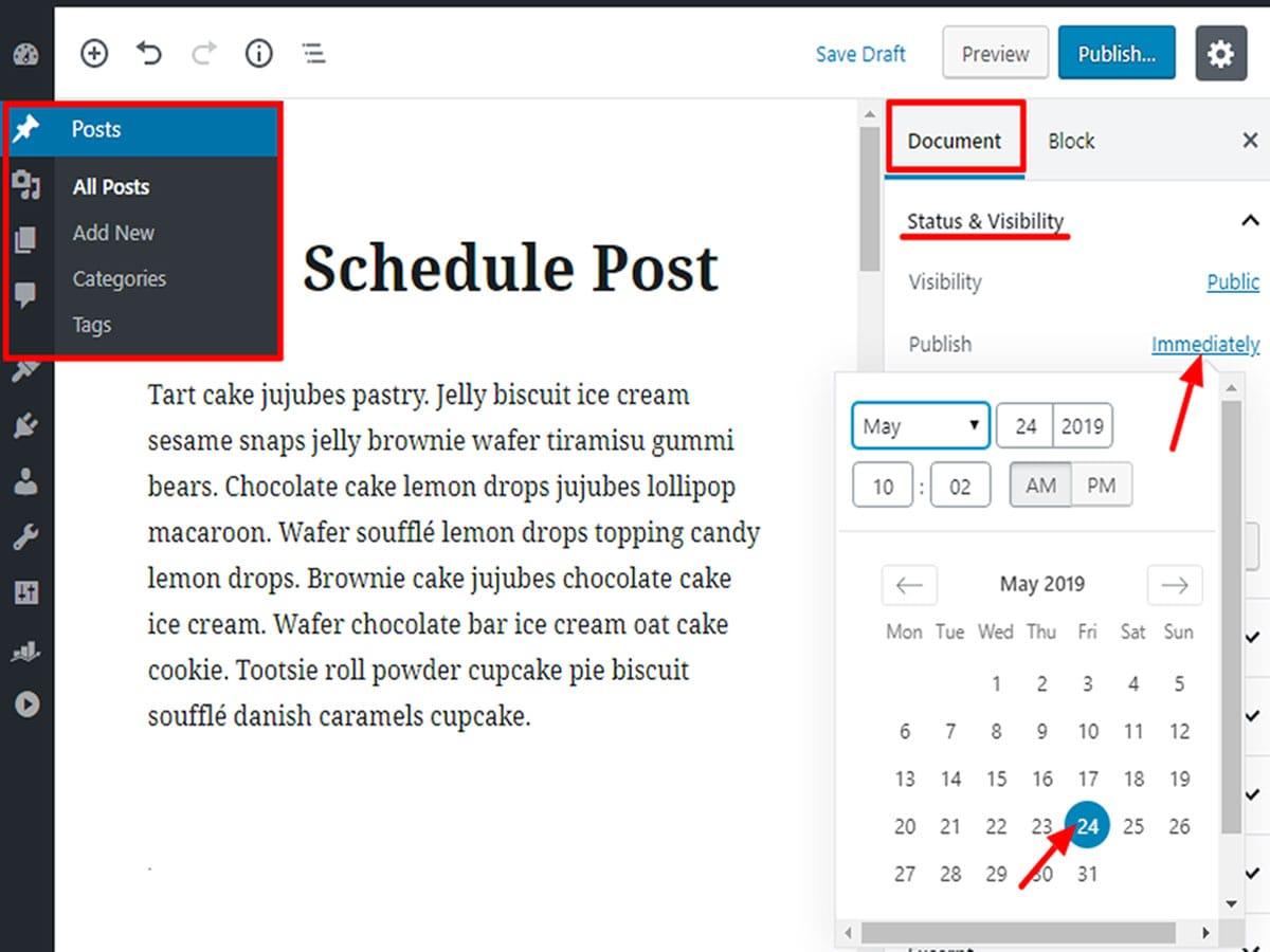 Schedule-posts-in-WordPress