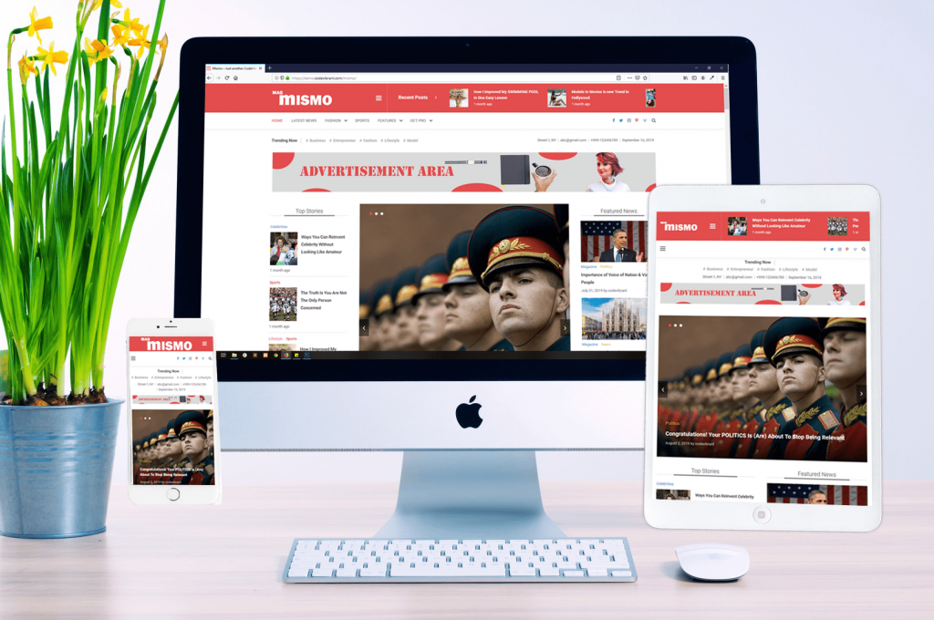 Make a news magazine site in WordPress using mismo - responsive