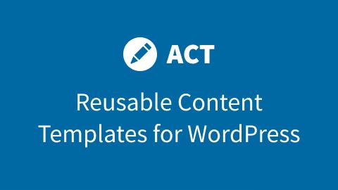 Advanced Content Templates