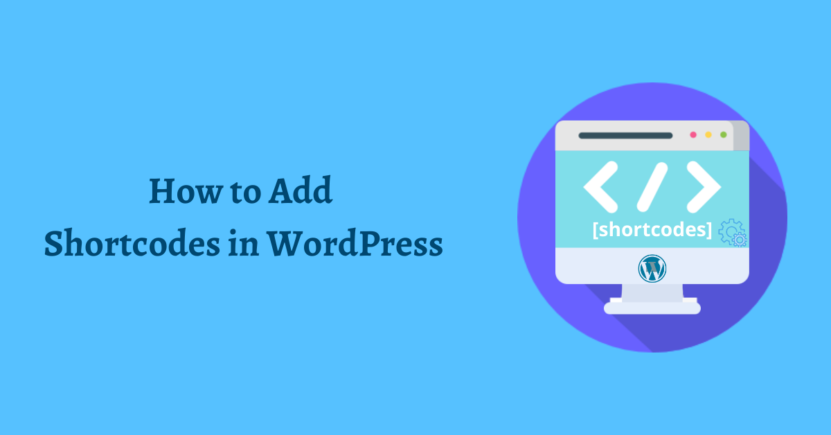 How to add shortcodes in WordPress