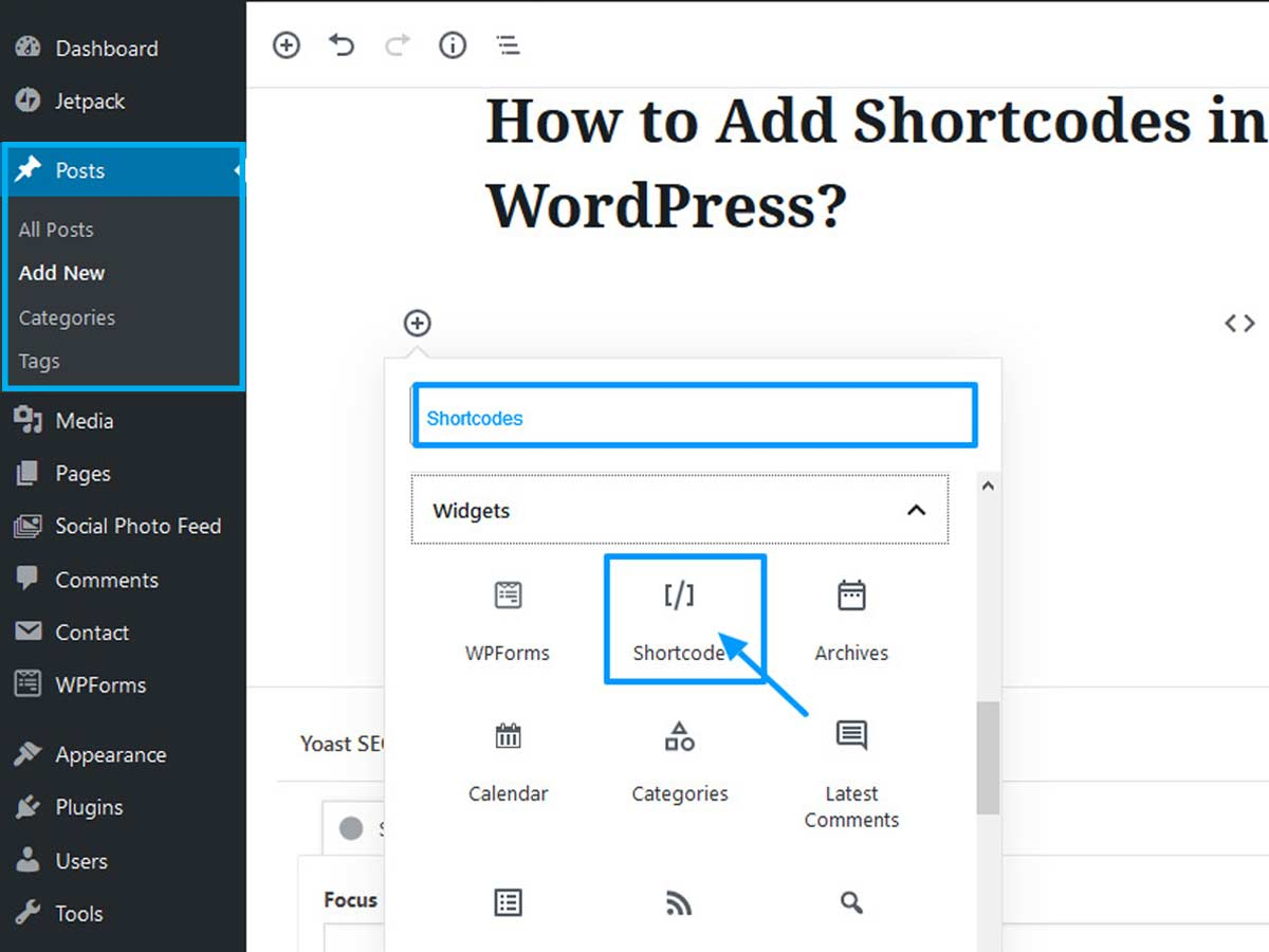 add-shortcodes-in-WordPress