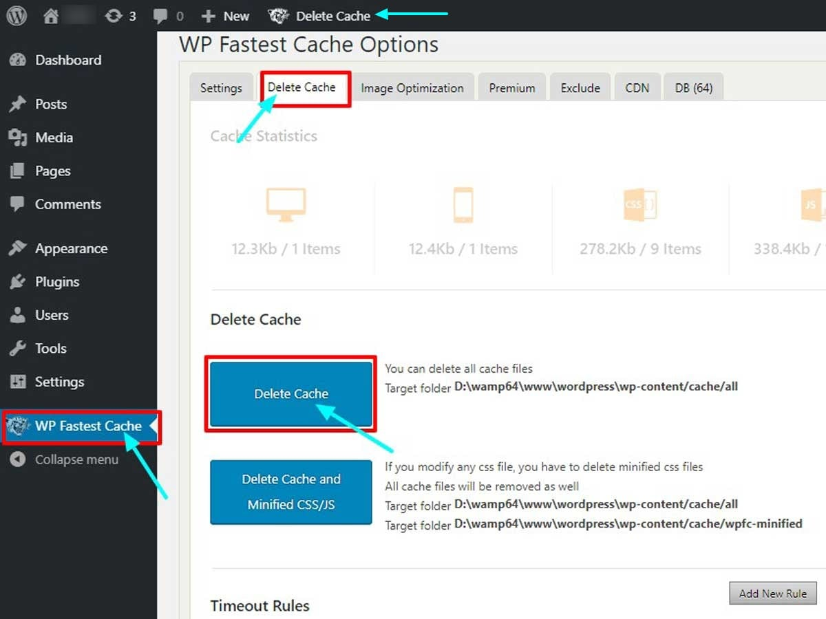 WP-Fasted-Cache-Option