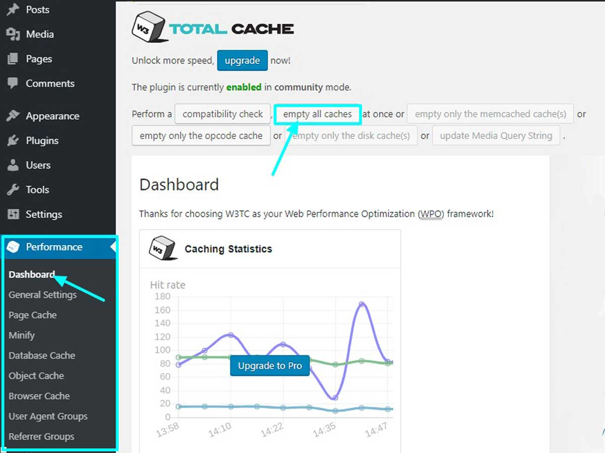 clear-cache-via-WP-total-cache