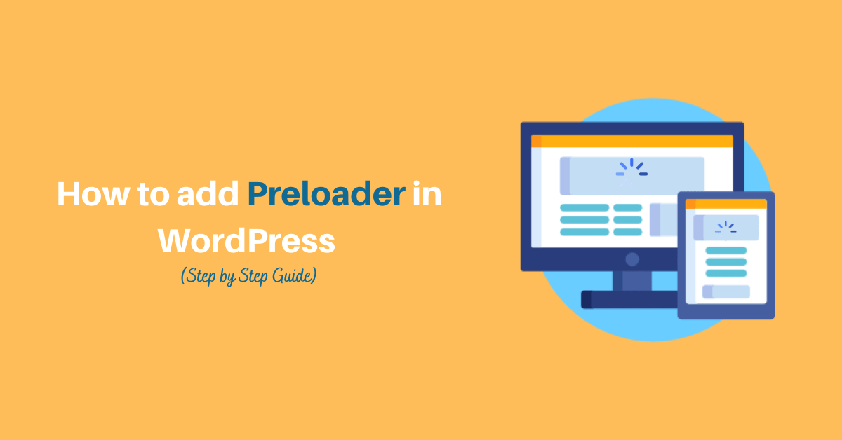 How to add Preloader in WordPress
