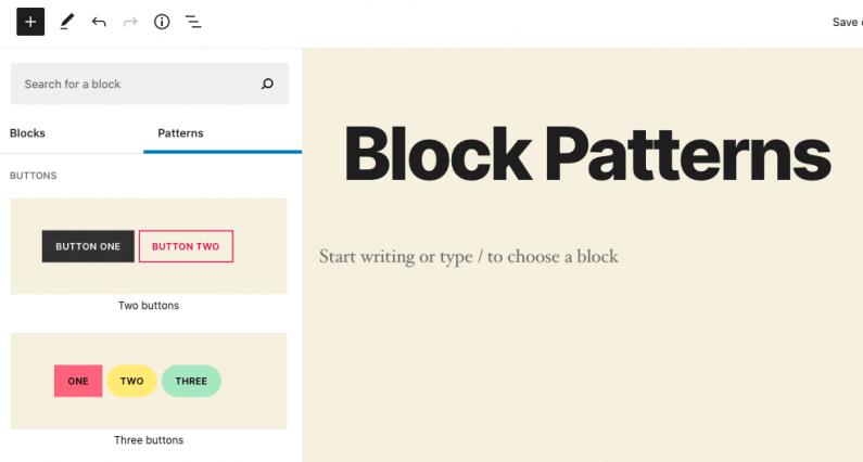 block-patterns