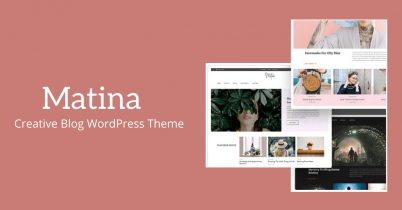 Matina- Creative Blog WordPress Theme Review- Is it good?