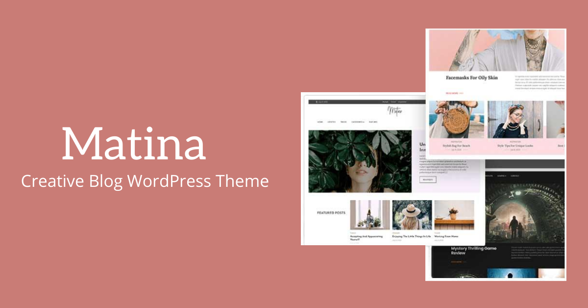 matina creative blog wordpress theme review