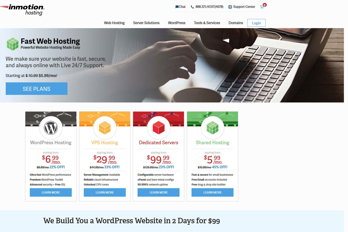 inmotion-fastest-WordPress-hosting